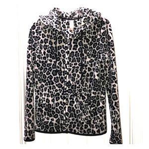 No Bounderies leopard jacket w/ pockets & Hood.